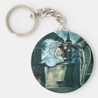 Angelic Curiosity Keychain