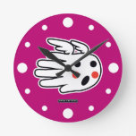 Hand shaped Angelic Face Round Clock
