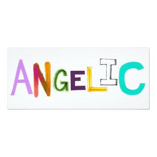 Angelic fun colorful word art sweet angel good card