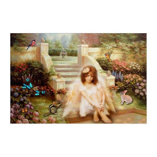 Angelic Garden Serenity Acrylic Wall Art