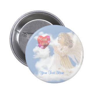 Angelic God Is Love Pinback Button