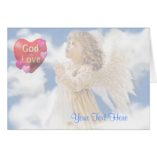 Angelic God Is Love Card
