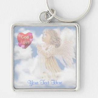 Angelic God Is Love Key Chain