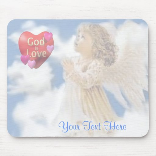 Angelic God Is Love Mouse Pad