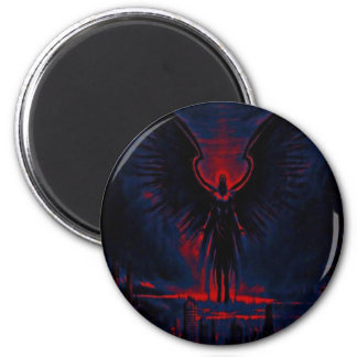 Angelic Guardian Red and Blue Magnet