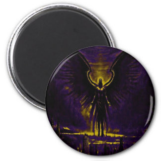 Angelic Guardian Yellow and Purple Magnet