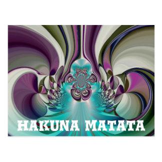 Angelic Hakuna Matata Gifts Heart Custom Product Postcard