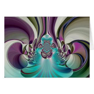 Angelic Hakuna Matata Gifts Purple Heart Card
