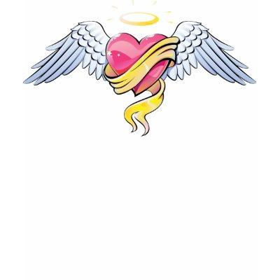 Heart Tattoos  Girls on Heart Tattoos Women  Angelic Heart Tattoo Top For Women Tshirt By