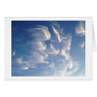 Angelic Looking Clouds Beautiful Wispy Clouds Card