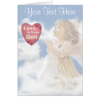 Angelic Love Is From Above Greeting Cards