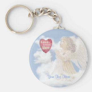 Angelic Love Is From Above Key Chain