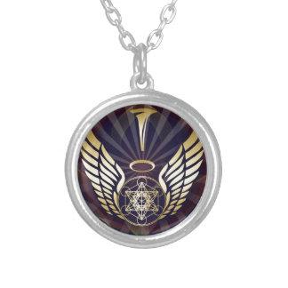Angelic- Merkaba-Metatron cube Round Pendant Necklace