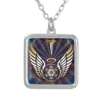 Angelic- Merkaba-Metatron cube Square Pendant Necklace