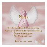 Angelic Pink Ribbon Poem On A Poster - Customize