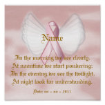 Angelic Pink Ribbon Poem Poster - Customize