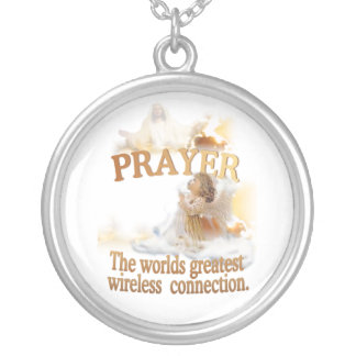 Angelic – Prayer World's Greatest Wireless Connect Silver Plated Necklace