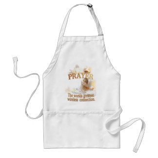 Angelic Prayer Worlds Greatest Wireless Connection Adult Apron