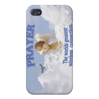 Angelic Prayer Worlds Greatest Wireless Connection Cover For iPhone 4