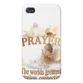 Angelic Prayer Worlds Greatest Wireless Connection iPhone 4/4S Case