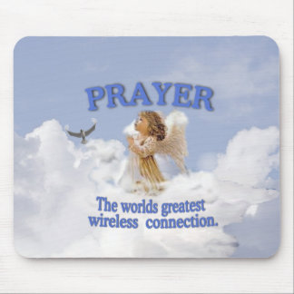 Angelic Prayer Worlds Greatest Wireless Connection Mouse Pad