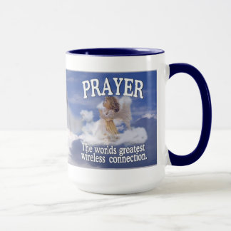 Angelic Prayer Worlds Greatest Wireless Connection Mug