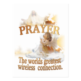 Angelic Prayer Worlds Greatest Wireless Connection Postcard