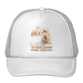 Angelic Prayer Worlds Greatest Wireless Connection Trucker Hat
