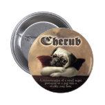 Angelic Pug Cherub Gift Items 2 Inch Round Button