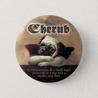 Angelic Pug Cherub Gift Items Button