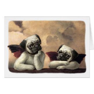 Angelic Pug Cherub Gift Items Greeting Card