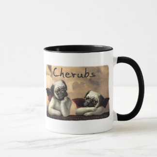 Angelic Pug Cherub Gift Items Mug