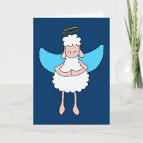 Angelic Sheeple Holiday Card
