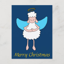 Angelic Sheeple Holiday Postcard