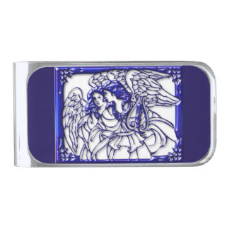 Angelic Silver Plated Money Clip