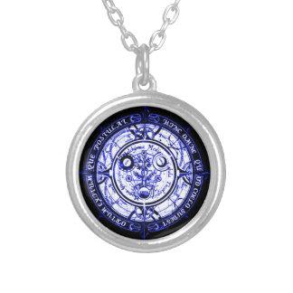 Angelic Spiritual Protection Amulet Round Pendant Necklace