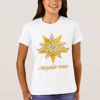 """Angelic Star"" golden star t-shirt"