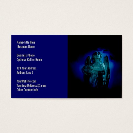 Angelic Statue Guardian Angel Business Card