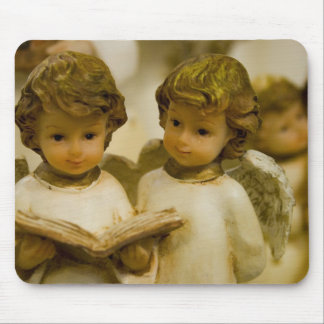Angelic Statues Mouse Pad