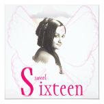 Angelic Sweet Sixteen Dream Invitation- Cust. 5.25x5.25 Square Paper Invitation Card