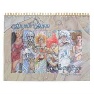 Angelic Visions - Fantasy Art - 12  Month Calendar