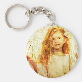 Angelic Wonder Basic Round Button Keychain
