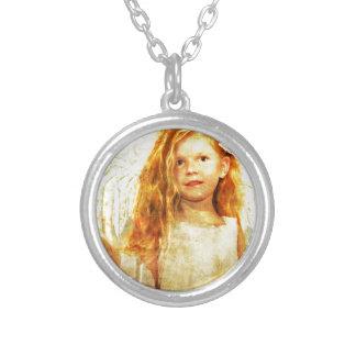 Angelic Wonder Round Pendant Necklace