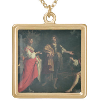 Angelica and the Moor, Medoro, 1634 (oil on canvas Personalized Necklace