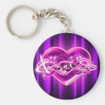 Angelica Basic Round Button Keychain