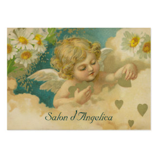 Angelica Hearts & Daisies Elegant Chubby Cards Business Cards