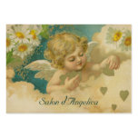 Angelica Hearts & Daisies Elegant Chubby Cards Large Business Card