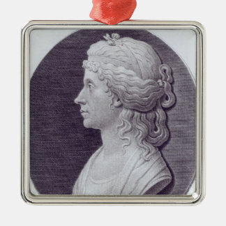 Angelica Kauffman, engraved by J.F Bause Metal Ornament