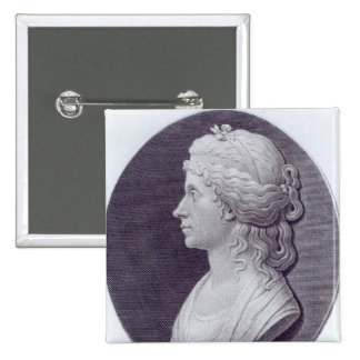 Angelica Kauffman, engraved by J.F Bause Pinback Button