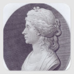 Angelica Kauffman, engraved by J.F Bause Square Stickers